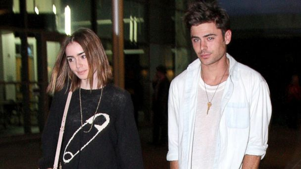 AKMGSI Zac1 Efron Lily Collins ml 131014 16x9 608 Is Zac Efron Dating Lily Collins ... Again?