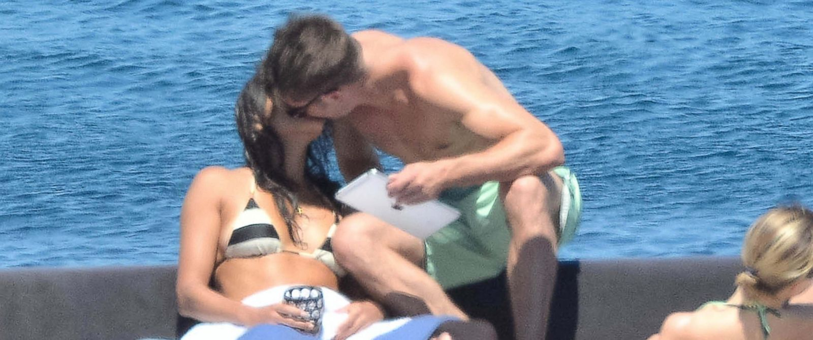 PHOTO: Couple Zac Efron and Michelle Rodriguez are seen in Sardinia, Italy on July 4, 2014.