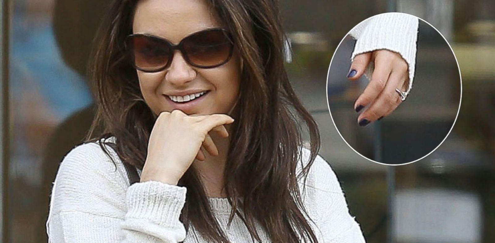 Mila Kuniss Engagement Ring From Ashton Kutcher New