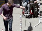Chord Overstreet Makes a Furry Friend At Glee