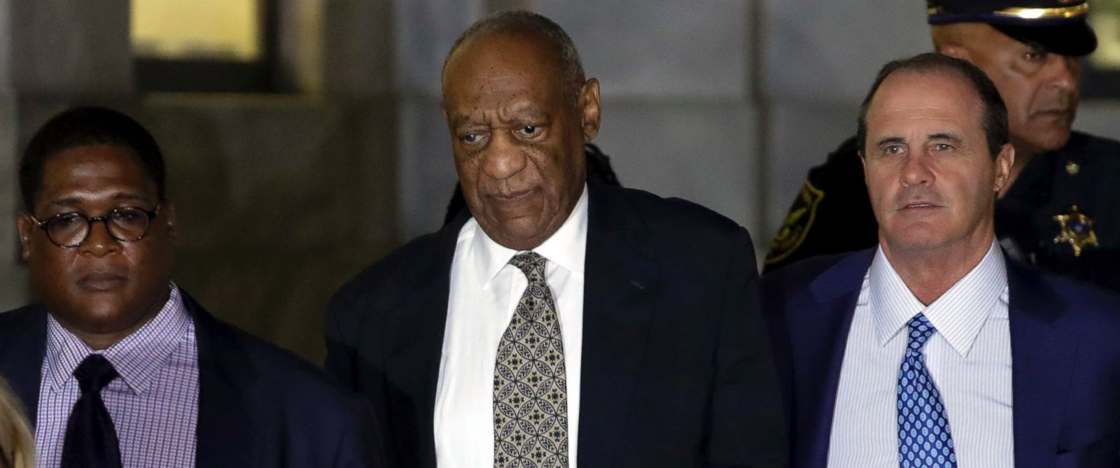 PHOTO: Bill Cosby leaves the Montgomery County Courthouse during his sexual assault trial, June 15, 2017, in Norristown, Pa.