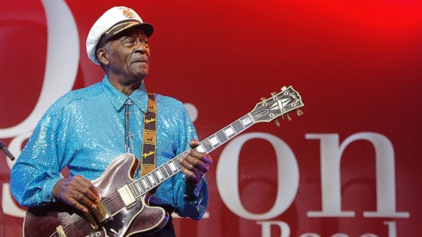 PHOTO: In this Nov. 13, 2007, file photo, legendary U.S. musician Chuck Berry performs on stage at the Avo Session in Basel, Switzerland.