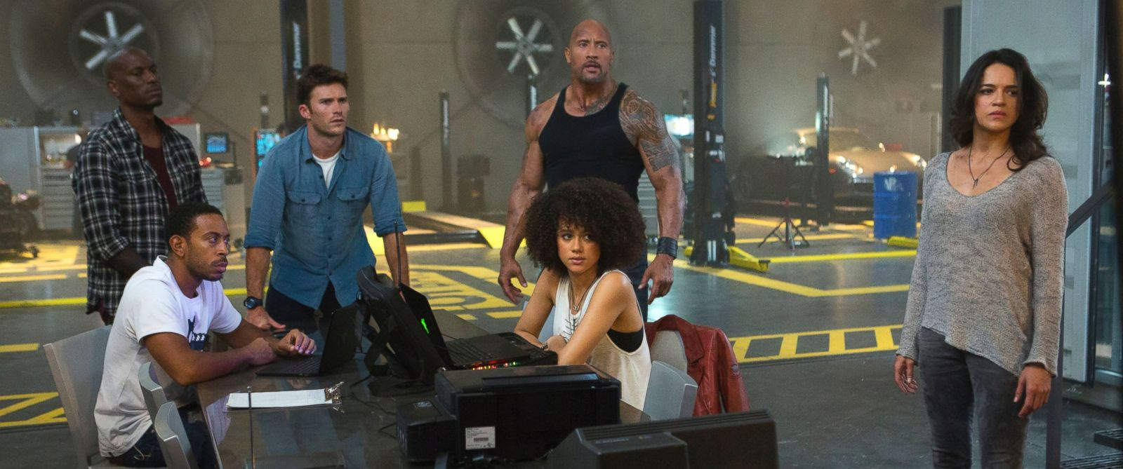 "PHOTO: A scene from ""The Fate of the Furious."""