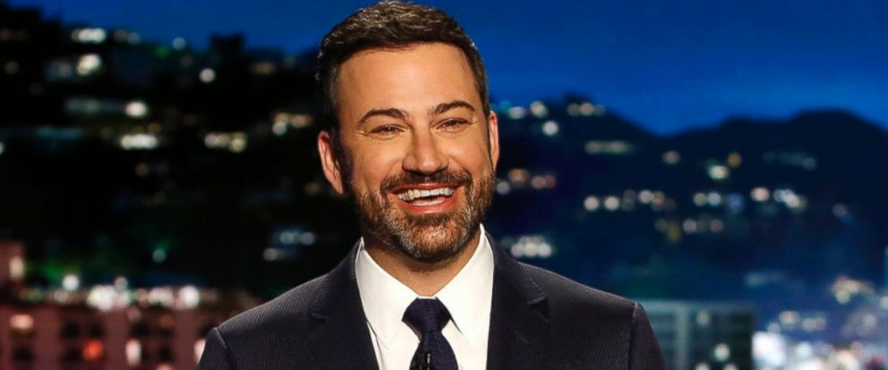 "PHOTO: Jimmy Kimmel appears during a taping of ""Jimmy Kimmel Live,"" in Los Angeles, April 11, 2017. Kimmel says his newborn son is home and doing great after open-heart surgery."