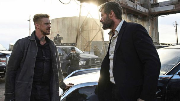 PHOTO: Boyd Holbrook, left, and Hugh Jackman in a scene from
