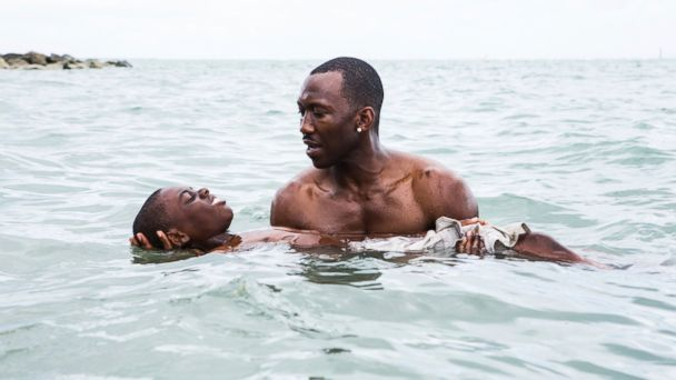 PHOTO: This image released by A24 shows Alex Hibbert, foreground, and Mahershala Ali in a scene from the film,