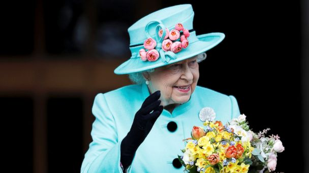 PHOTO: Queen Elizabeth leaves the Easter Sunday service in Windsor Castle in this April 16, 2017 file photo in Windsor England.