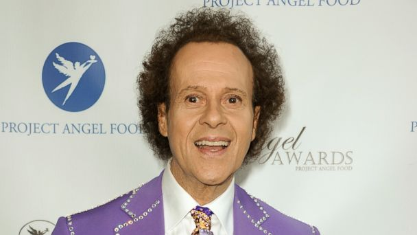 PHOTO: Fitness guru Richard Simmons arrives at the Project Angel Food's 2013 Angel Awards in Los Angeles, Calif.,August 10, 2013.