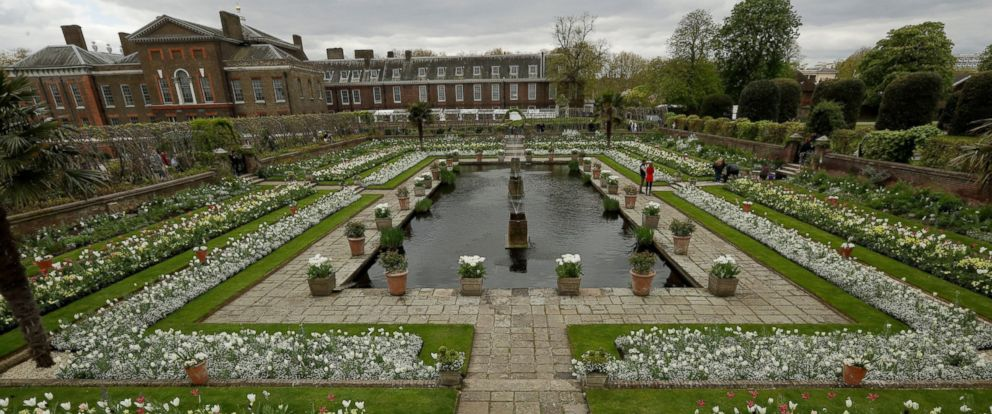 PHOTO: An overview shows The White Garden, a new memorial garden which marks 20 years since the death of Britains Princess Diana, at Kensington Palace in London, April 13, 2017.