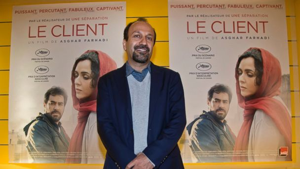PHOTO: Iranian director Asghar Farhadi poses for his film