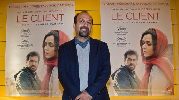 PHOTO: Iranian director Asghar Farhadi poses for his film