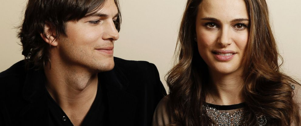 """PHOTO: Actor Ashton Kutcher, left, and actress Natalie Portman, from the film """"No Strings Attached"""" pose for a portrait in Beverly Hills, California, Jan. 7, 2011."""