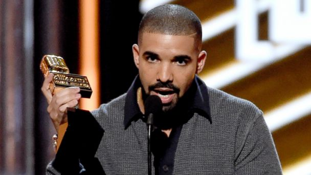PHOTO: Drake accepts the award for top male artist at the Billboard Music Awards at the T-Mobile Arena, May 21, 2017, in Las Vegas.
