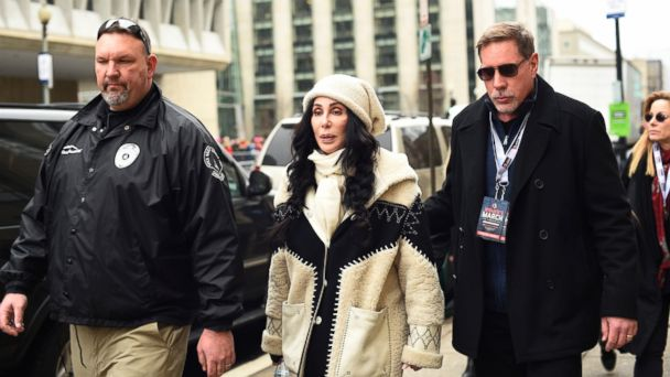 PHOTO: Cher arrives for the Women's March on Washington on Independence Ave. on Jan. 21, 2017 in Washington.