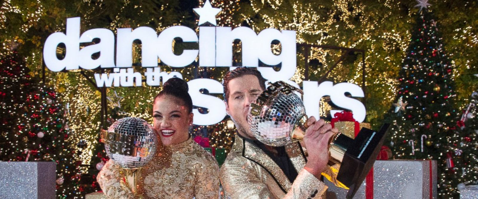 Image result for Laurie Hernandez wins 'Dancing with the Stars' picture with trophy
