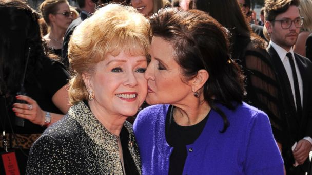 PHOTO: Debbie Reynolds and Carrie Fisher arrive at the Primetime Creative Arts Emmy Awards in Los Angeles, Sept. 10, 2011.