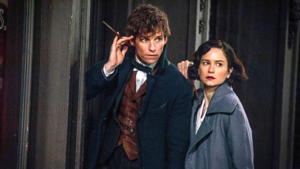 PHOTO: Eddie Redmayne, left, and Katherine Waterston in a scene from,