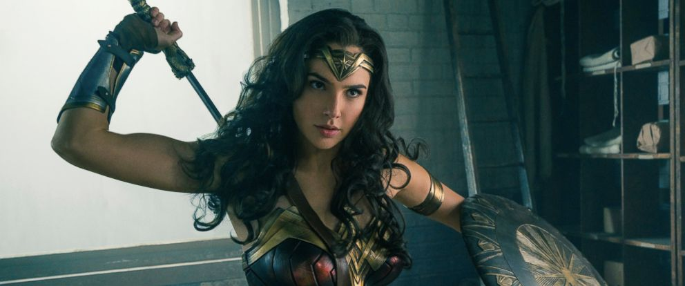 "PHOTO: Gal Gadot in a scene from ""Wonder Woman."""
