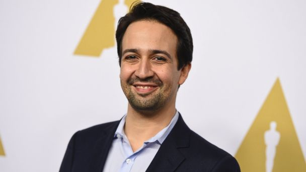 PHOTO: Lin-Manuel Miranda arrives at the 89th Academy Awards Nominees Luncheon, Feb. 6, 2017, in Beverly Hills, California.