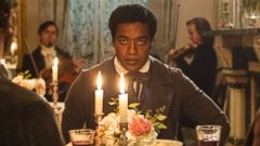 PHOTO: This film publicity image released by Fox Searchlight shows Chiwetel Ejiofor as Solomon Northup in a scene from 12 Years A Slave.