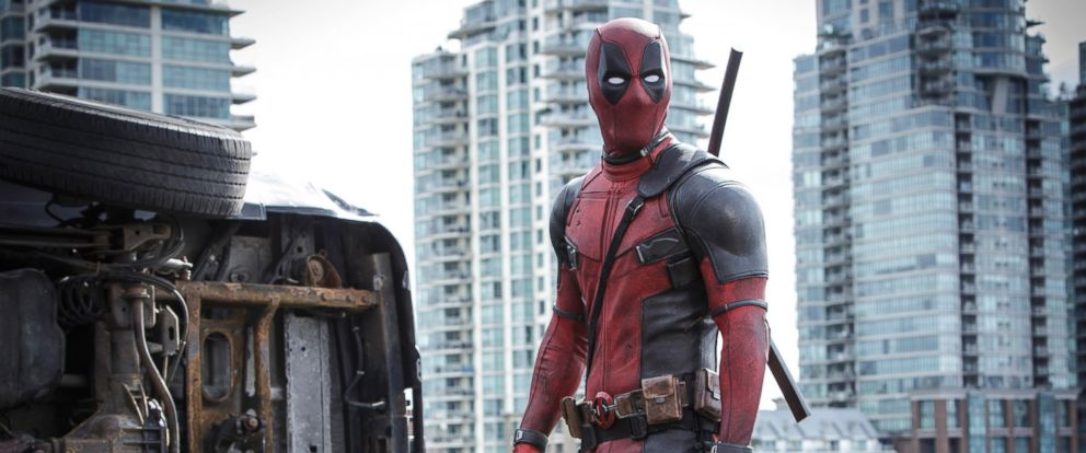 "PHOTO: This photo provided by Twentieth Century Fox shows Ryan Reynolds as Deadpool in ""Deadpool."""