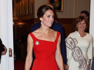 PHOTO: The Duchess of Cambridge attends a reception at Government House in Victoria, during the third day of their tour of Canada, Sept. 26, 2016.
