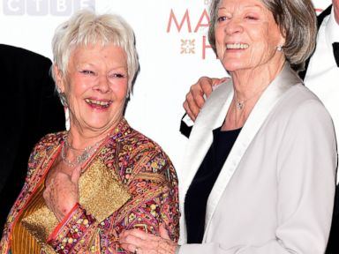 PHOTO: Dame Judi Dench and Dame Maggie Smith are seen in London, Feb. 17, 2015.
