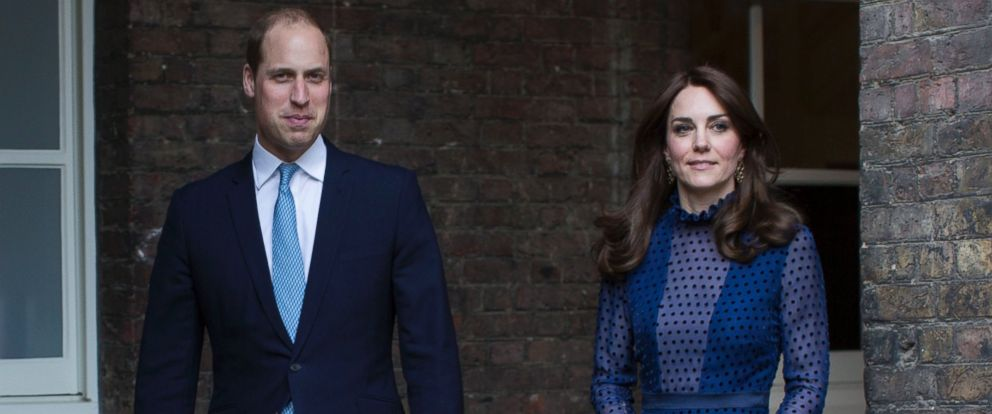 PHOTO: Prince William and Kate, the Duchess of Cambridge, attends a reception at Kensington Palace, April 6, 2016, ahead of their tour to India and Bhutan.