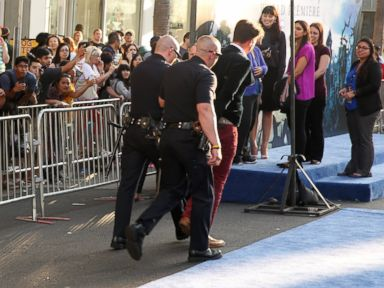 Prankster Confronts Brad Pitt at 'Maleficent' Premiere