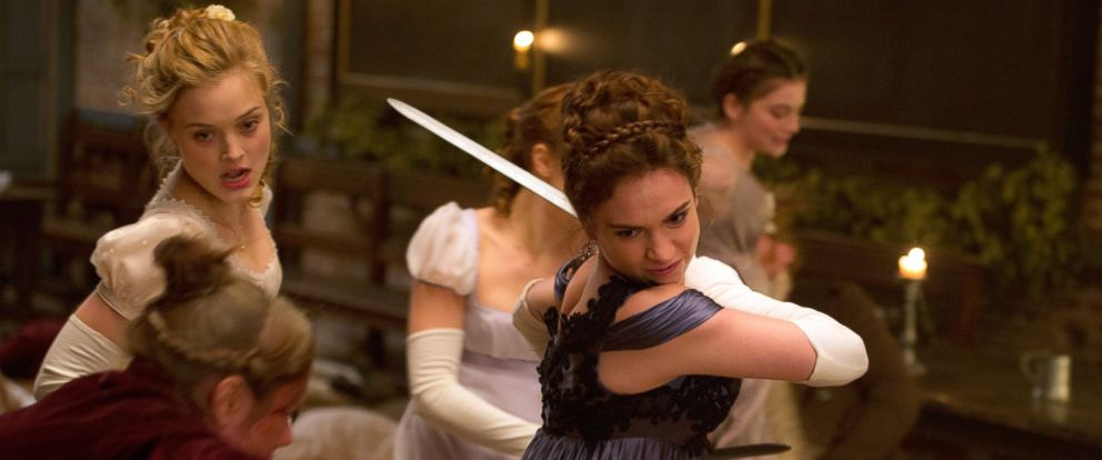 "PHOTO: Lily James in a scene from ""Pride and Prejudice and Zombies."""
