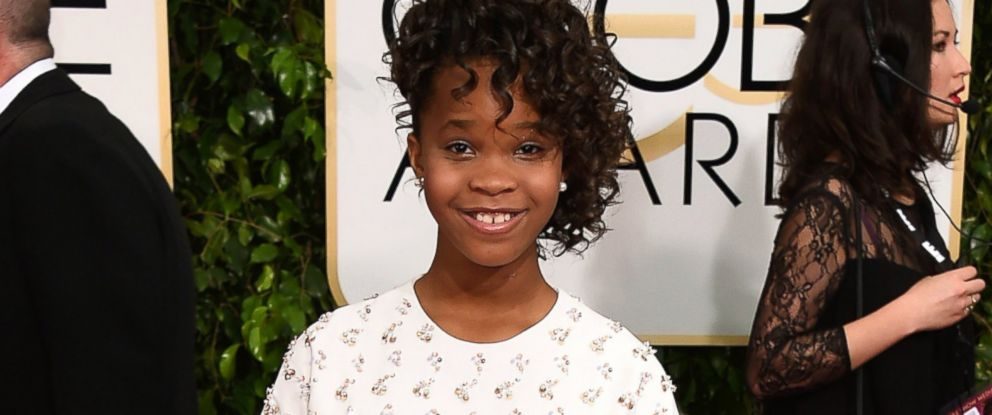 PHOTO: Quvenzhane Wallis arrives at the 72nd annual Golden Globe Awards at the Beverly Hilton Hotel, Jan. 11, 2015, in Beverly Hills, Calif.