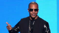 PHOTO:This Nov. 23, 2014, file photo shows T.I. introducing a performance by Iggy Azalea and Charli XCX at the 42nd annual American Music Awards at Nokia Theatre L.A. Live in Los Angeles.