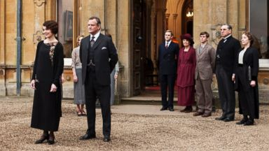 "PHOTO: This undated publicity photo provided by PBS shows the cast of the TV series, ""Downton Abbey"""