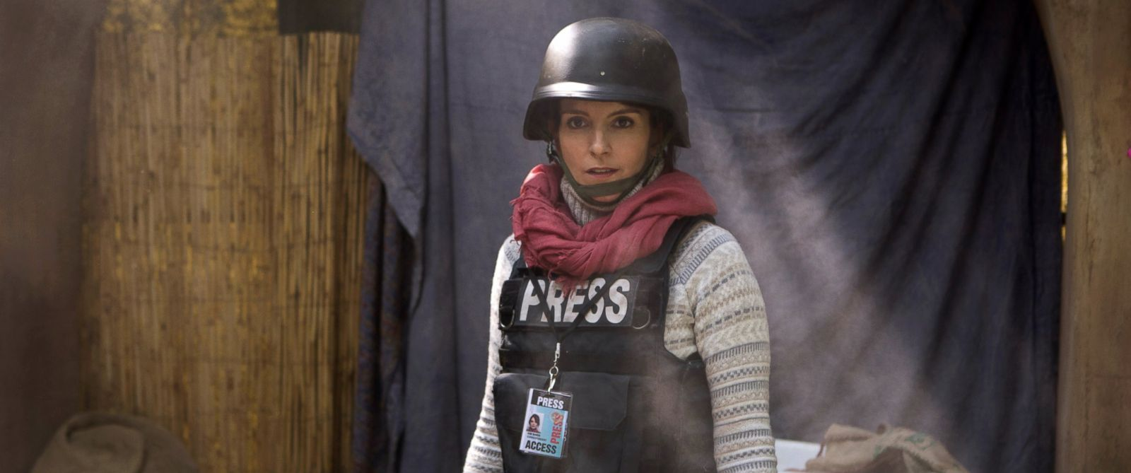 "PHOTO: Tina Fey portrays Kim Baker in a scene from ""Whiskey Tango Foxtrot."""