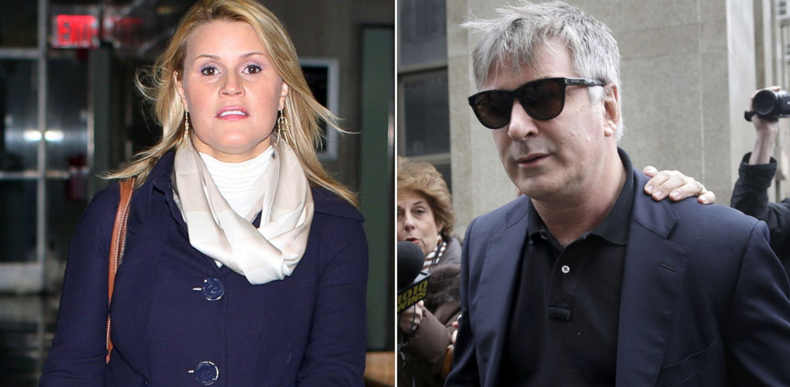 PHOTO: At left, Genevieve Sabourin; at right, Alec Baldwin.