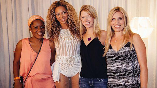AP beyonce bomginb victims concert thg 130724 16x9 608 Photo: Beyonce Invites Boston Bombing Survivors Backstage
