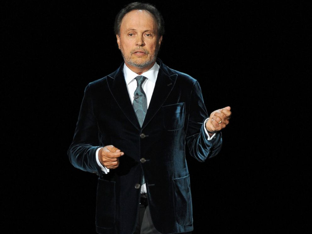 PHOTO: Billy Crystal speaks during an In Memoriam tribute to Robin Williams at the 66th Primetime Emmy Awards at the Nokia Theatre L.A. Live on Aug. 25, 2014, in Los Angeles.