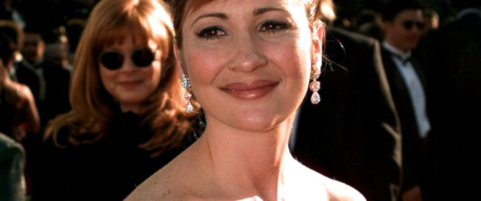 PHOTO: Christine Cavanaugh arrives for the 68th Academy Awards at the Music Center in Los Angeles, March 25, 1996.