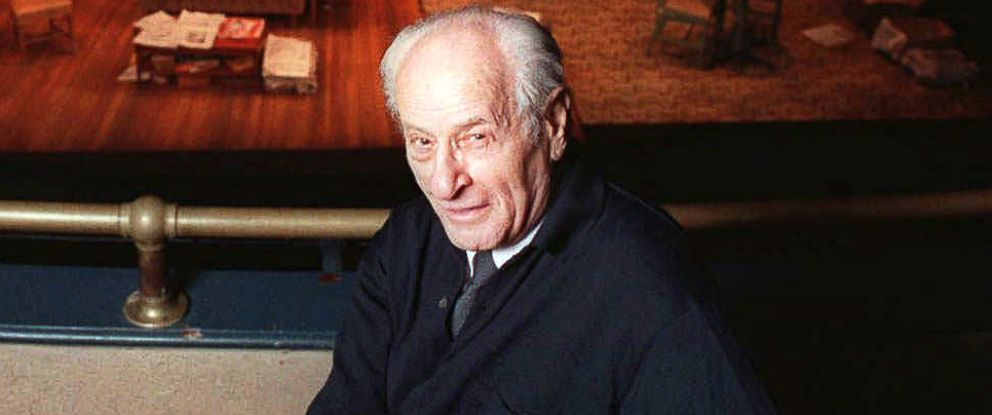 """PHOTO: Eli Wallach in the balcony at Union Square Theater where he was appearing in the play, """"Visiting Mr. Green,"""" in New York, Jan. 2, 1997."""