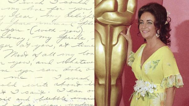 AP elizabeth taylor love letter lpl 131128 16x9 608 Elizabeth Taylor Confesses Pure Animal Pleasure for Richard Burton in Steamy Love Letter