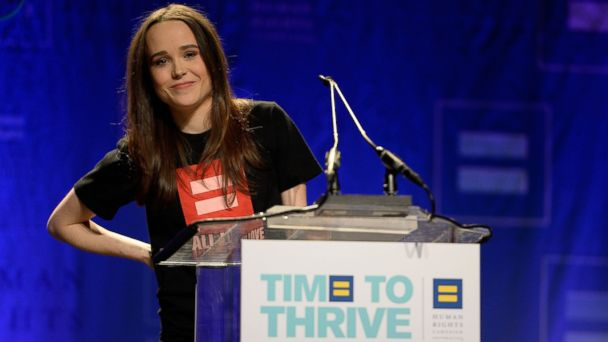 AP ellen page 2 jt 140215 16x9 608 Ellen Page Gives Emotional Coming Out Speech in Front of Hundreds