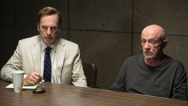 PHOTO: Bob Odenkirk, left, and Jonathan Banks appear in a scene from