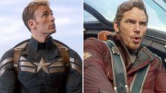 PHOTO: Chris Evans, left, as Captain America, and Chris Pratt as Starlord.