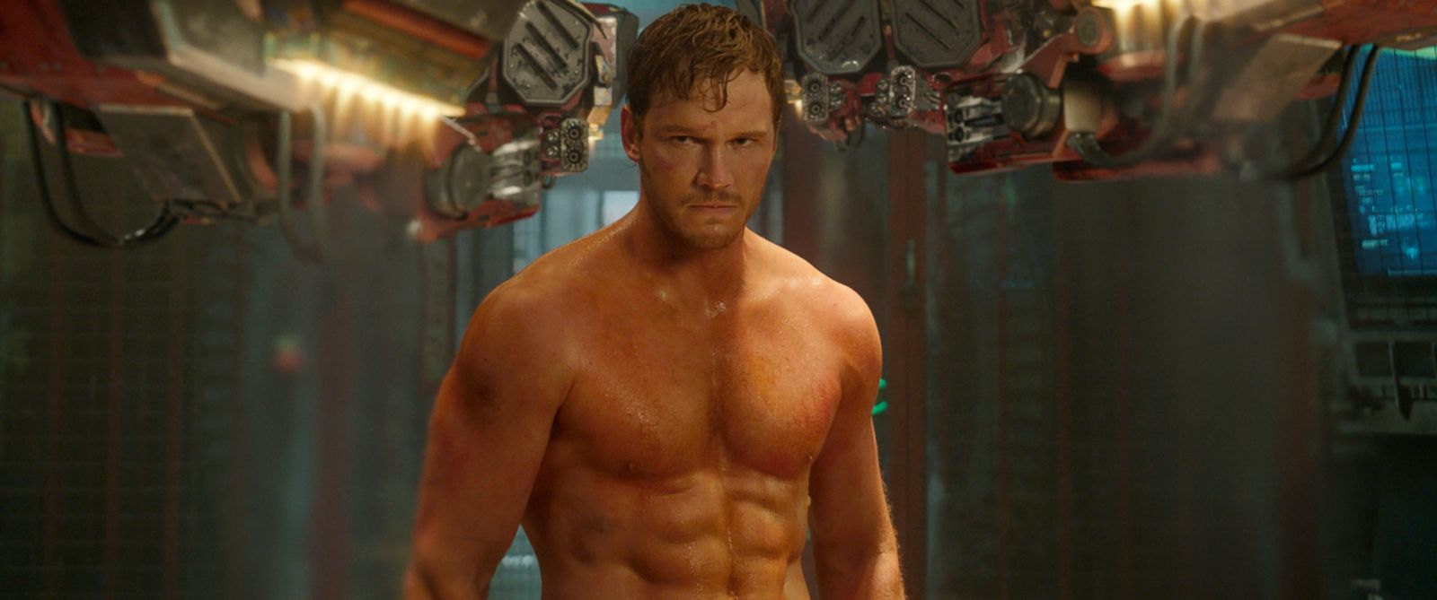 "PHOTO: This image released by Disney - Marvel shows Chris Pratt in a scene from ""Guardians Of The Galaxy."""