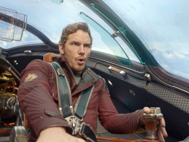 PHOTO: This image released by Disney - Marvel shows Chris Pratt in a scene from Guardians Of The Galaxy.