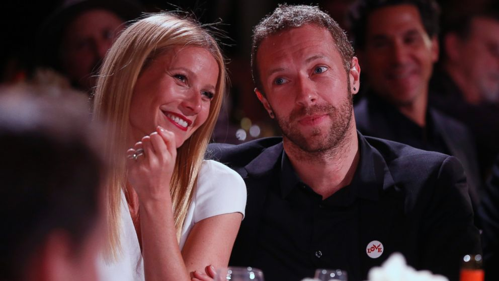 PHOTO: Gwyneth Paltrow, left, and Chris Martin are seen at the 3rd Annual Sean Penn & Friends Help Haiti Home Gala, Jan. 11, 2014, at the Montage Hotel in Beverly Hills, Calif.