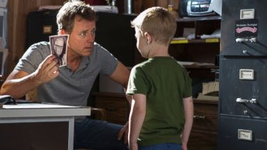 "PHOTO: From left, Greg Kinnear and Connor Corum in a scene from ""Heaven Is For Real."""