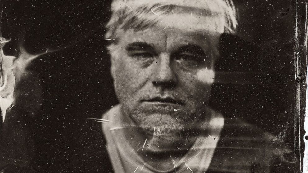 PHOTO: Philip Seymour Hoffman poses for a tintype (wet collodion) portrait at The Collective and Gibson Lounge Powered by