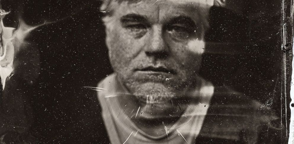 PHOTO: Philip Seymour Hoffman poses for a tintype (wet collodion) portrait at The Collective and Gibson Lounge Powered by CEG, during the 2014 Sundance Film Festival in Park City, Utah.