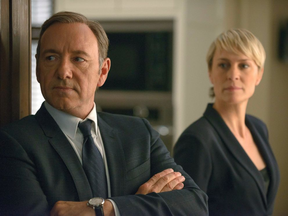 PHOTO: Kevin Spacey as Frank Underwood, left, and Robin Wright as Claire Underwood in Netflixs series House of Cards.